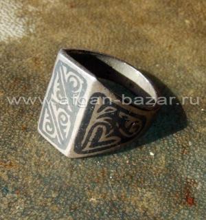 Афганское племенное кольцо с гравировкой и чернением