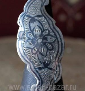Кольцо, сделанное из элемента старинного поясного набора (Иран или Кавказ, 19-й