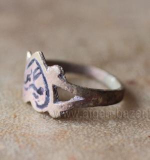 Афганское кольцо с эмалью, авторская реставрация