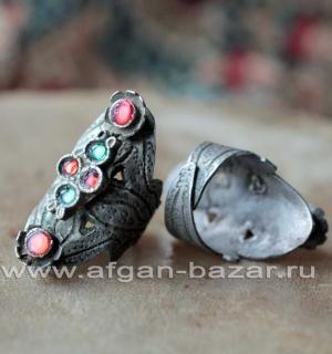 Афганское племенное кольцо. Кашмир, конец 20-го века (Tribal kuchi jewelry)