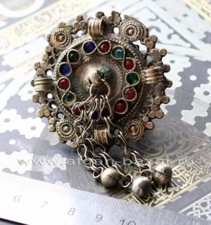 Афганское племенное кольцо с солярной символикой