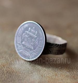 Старое кольцо из афганской монеты (Tribal Kuchi Jewelry)