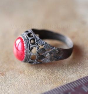 Афганское племенное кольцо с современной вставкой