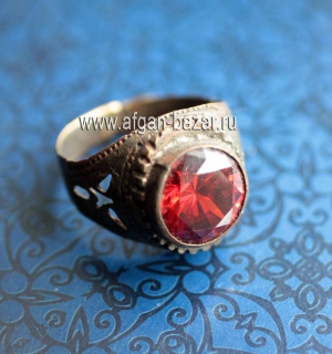 Афганский перстень (Kuchi Tribal Ring) Афганистан или Пакистан, племена Кучи, 20