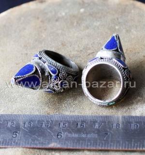 Афганский перстень с эмалью в стиле Трайбл