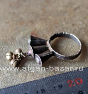 Афганский племенной перстень с бубенчиками (Kuchi Tribal Ring)
