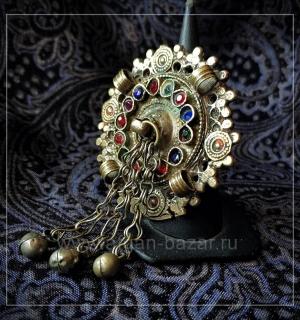 Афганское племенное кольцо с солярной символикой. Северо-западный Пакистан, плем