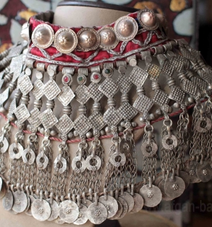 """Нашейная повязка-чокер """"Djodani"""" - племенные украшения Кучи (Tribal Kuchi Jewelr"""