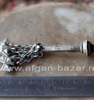 Афганская подвеска-трубочка, часть ожерелья. Афганистан или Пакистан, 20-й век,