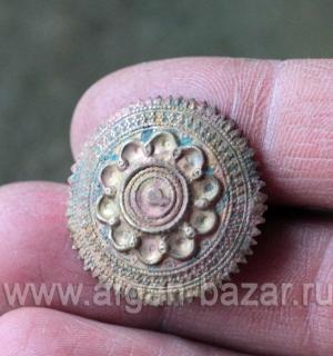 Афганская сережка-пин для носа. Афганистан или Пакистан, племена Кучи, середина
