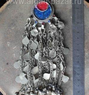 Афганская этническая подвеска-амулет, деталь костюма - Tribal Kuchi jewelry