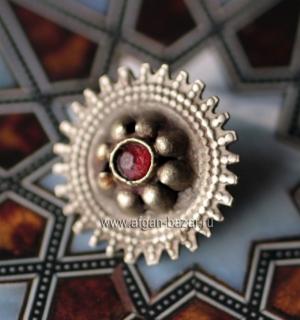 Афганская сережка-пин для носа. Афганистан или Пакистан, племена Кучи,  20-й век