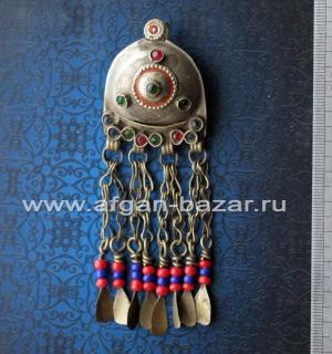 Афганская подвеска-амулет, деталь украшения или костюма, племенные украшения Куч