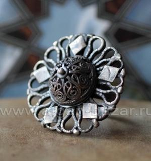"""Афганское племенное кольцо с солярной символикой """"Ангуштар"""" (Angushtar)"""