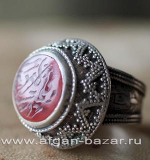 Афганский винтажный перстень с сердоликом