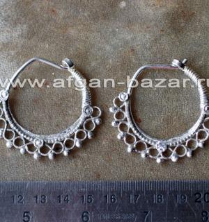 Афганские племенные серьги. Пакистан, современная работа (Tribal Kuchi jewelry)