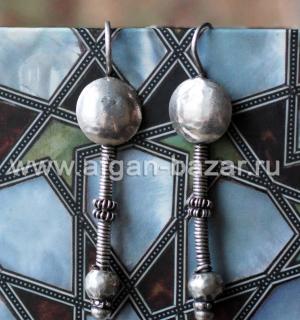 Старые племенные серьги. Индия, украшения народности Рабари
