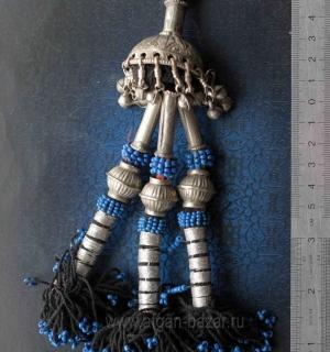Декоративная подвеска - деталь пояса либо колье. Пакистан или Кашмир, племена Ку