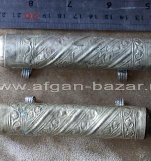 Лот из двух традиционных афганских цилиндрических амулетов - Тавиз