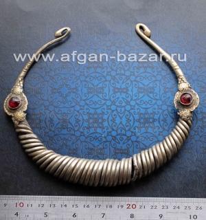 """Старинная афганская гривна - """"Огай"""" или """"Гер"""" - традиционное украшение народов,"""