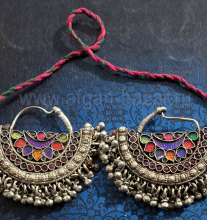 Височные подвески. Пакистан, народность Белуджи (Kuchi Tribal jewelry)