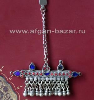 Заколка для волос с крючком (Tribal Kuchi Jewelry). Афганистан или Пакистан, пле