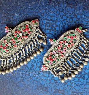 Пара заколок для волос. Индия или Пакистан (Кашмир), племена Кучи, 20-й век