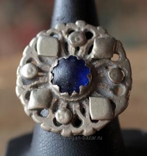 """Афганское племенное кольцо с солярной символикой """"Ангуштар"""" (Angushtar). Северо-"""