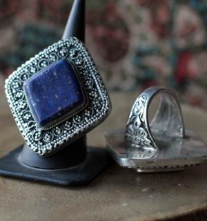 Афганский перстень с лазуритом