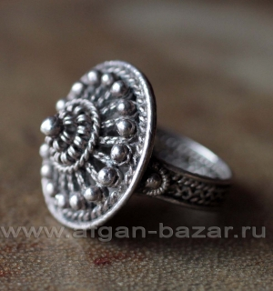 Старинный балканский филигранный перстень. Балканы, начало - первая половина 20-
