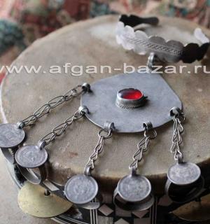 """Туркменский браслет с кольцами """"Кёкенли йузук"""". Северный Афганистан, конец 20-го"""