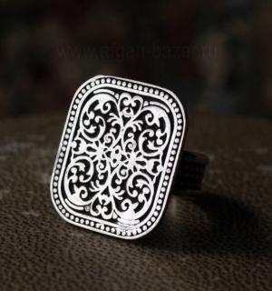 """Египетский серебряный перстень с орнаментом """"арабеска"""""""