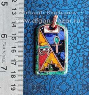 """Александр Емельянов. кулон """"Египет"""". Медь, горячая перегородчатая эмаль"""