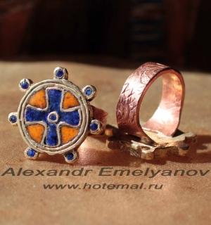 Кольцо в византийском стиле - авторская реплика-реконструкция средневекового виз