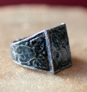 Перстень с эмалью, авторская реставрация