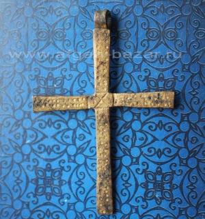 Старый эфиопский нательный крест. Тип Шоа. Эфиопия, 20 век