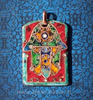 "Кулон в марокканском стиле ""Хамса"" или ""Рука Фатимы""."