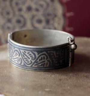 Афганский браслет с чернью и  растительным орнаментом. Афганистан, вторая полови
