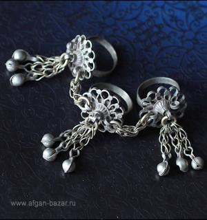 Строенные кольца от набора с браслетом. Пакистан, Кашмир, 20 век.