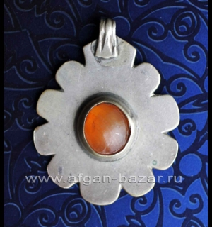 Старинная туркменская подвеска-нашивка на одежду. Туркестан (Туркмения),  туркме