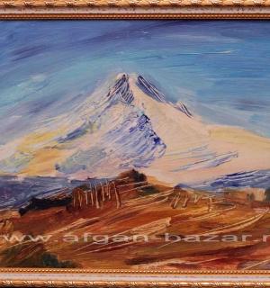 Александр Емельянов. Ercies dağı (Вулкан Эрджияс, Турция, Каппадокия). Картон, м