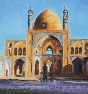 Александр Емельянов. Мечеть Ага Бозорг. Иран, Кашан. Холст, масло