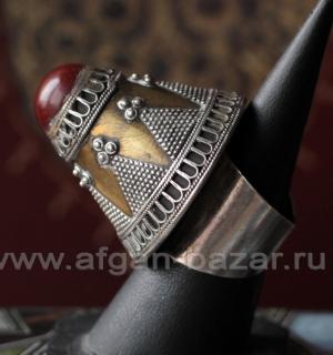 Афганский перстень с сердоликом и филигранью