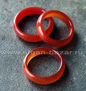 Кольцо из натурального сердолика. Размер - 17