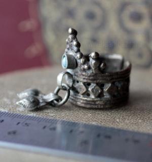 """Кашмирское """"коронное"""" кольцо с бубенчиками"""