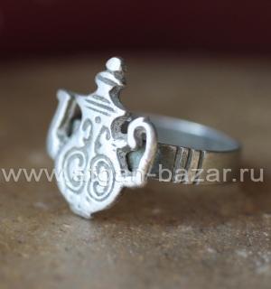 Старый берберский перстень-талисман с изображением чайника