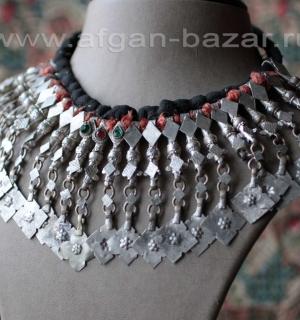 Нашейная повязка-чокер - племенные украшения Кучи (Tribal Kuchi Jewelry). Афгани