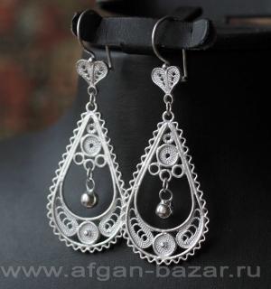 Серьги в стиле традиционных украшений Османской Империи - Ottoman Style Silver T