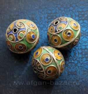 Традиционная марокканская бусина с горячей эмалью