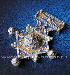 """Марокканская подвеска-амулет """"Богдад"""" (Boghdad) с перегородчатой эмалью"""